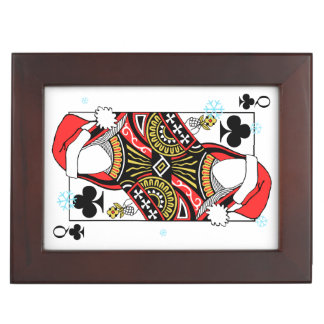 Merry Christmas Queen of Clubs - Add Your Images Keepsake Box