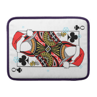 Merry Christmas Queen of Clubs - Add Your Images Sleeve For MacBook Air