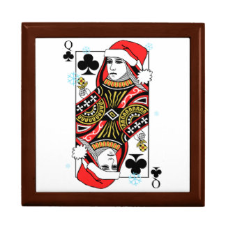 Merry Christmas Queen of Clubs Gift Box