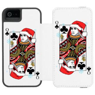 Merry Christmas Queen of Clubs Incipio Watson™ iPhone 5 Wallet Case