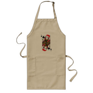 Merry Christmas Queen of Clubs Long Apron