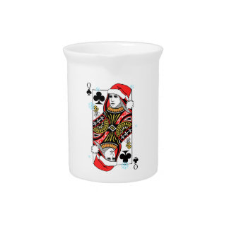 Merry Christmas Queen of Clubs Pitcher