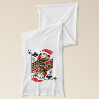 Merry Christmas Queen of Clubs Scarf