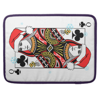 Merry Christmas Queen of Clubs Sleeve For MacBooks