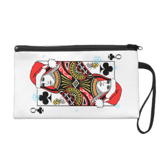 Merry Christmas Queen of Clubs Wristlet