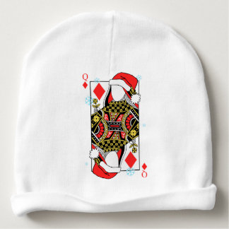 Merry Christmas Queen of Diamonds-Add Your Images Baby Beanie