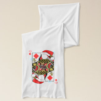 Merry Christmas Queen of Diamonds-Add Your Images Scarf