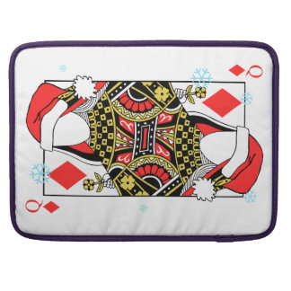 Merry Christmas Queen of Diamonds-Add Your Images Sleeves For MacBooks