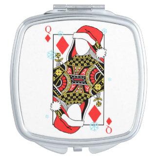 Merry Christmas Queen of Diamonds-Add Your Images Vanity Mirror