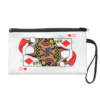 Merry Christmas Queen of Diamonds-Add Your Images Wristlet