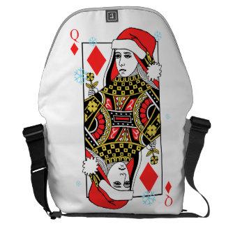 Merry Christmas Queen of Diamonds Courier Bag