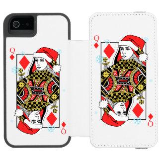 Merry Christmas Queen of Diamonds Incipio Watson™ iPhone 5 Wallet Case