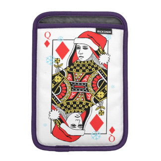 Merry Christmas Queen of Diamonds iPad Mini Sleeve