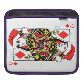 Merry Christmas Queen of Diamonds iPad Sleeve