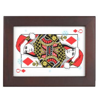 Merry Christmas Queen of Diamonds Keepsake Box