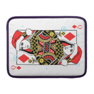 Merry Christmas Queen of Diamonds MacBook Sleeve