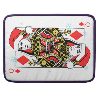 Merry Christmas Queen of Diamonds Sleeve For MacBooks