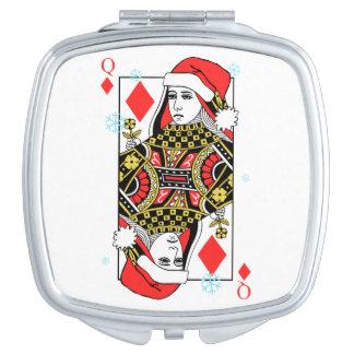 Merry Christmas Queen of Diamonds Vanity Mirror