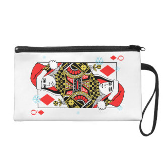 Merry Christmas Queen of Diamonds Wristlet