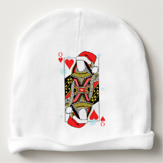 Merry Christmas Queen of Hearts - Add Your Images Baby Beanie