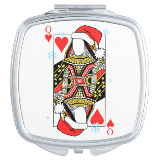 Merry Christmas Queen of Hearts - Add Your Images Compact Mirrors