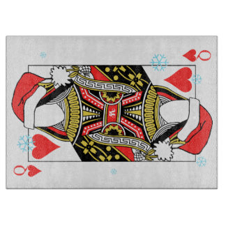 Merry Christmas Queen of Hearts - Add Your Images Cutting Board