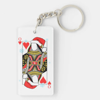 Merry Christmas Queen of Hearts - Add Your Images Key Ring