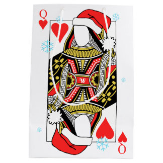Merry Christmas Queen of Hearts - Add Your Images Medium Gift Bag