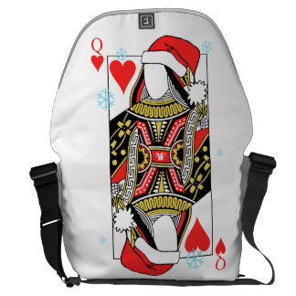 Merry Christmas Queen of Hearts - Add Your Images Messenger Bags