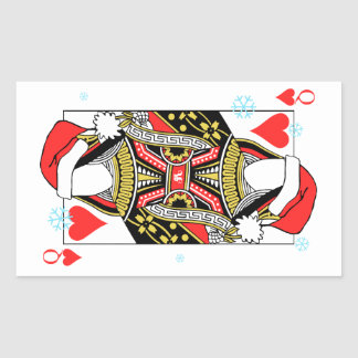 Merry Christmas Queen of Hearts - Add Your Images Rectangular Sticker