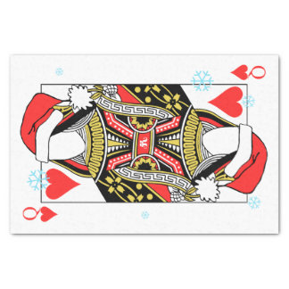 Merry Christmas Queen of Hearts - Add Your Images Tissue Paper