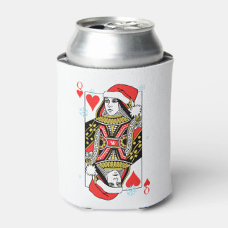 Merry Christmas Queen of Hearts Can Cooler