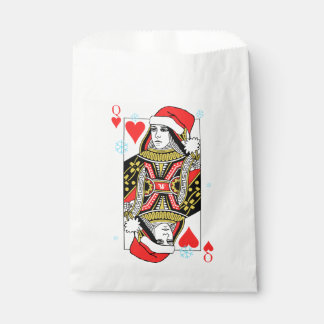 Merry Christmas Queen of Hearts Favour Bags