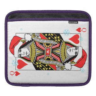 Merry Christmas Queen of Hearts iPad Sleeve