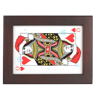 Merry Christmas Queen of Hearts Keepsake Box