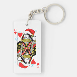 Merry Christmas Queen of Hearts Key Ring