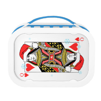 Merry Christmas Queen of Hearts Lunch Box