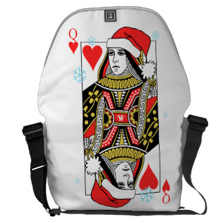 Merry Christmas Queen of Hearts Messenger Bags