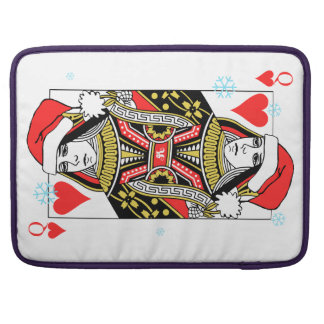 Merry Christmas Queen of Hearts Sleeve For MacBooks