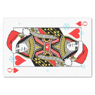 Merry Christmas Queen of Hearts Tissue Paper