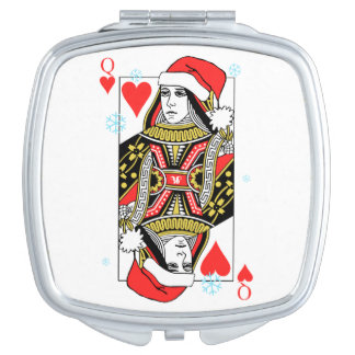 Merry Christmas Queen of Hearts Travel Mirror