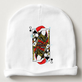 Merry Christmas Queen of Spades - Add Your Images Baby Beanie