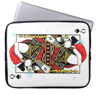 Merry Christmas Queen of Spades - Add Your Images Laptop Sleeve