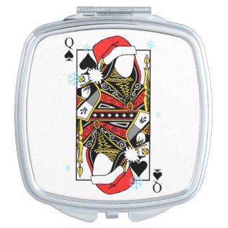 Merry Christmas Queen of Spades - Add Your Images Vanity Mirror