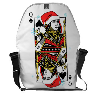 Merry Christmas Queen of Spades Courier Bag