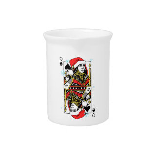 Merry Christmas Queen of Spades Drink Pitchers