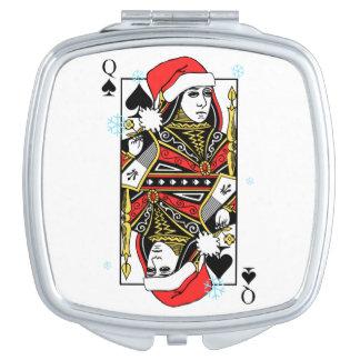 Merry Christmas Queen of Spades Vanity Mirror