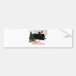 Merry Christmas Rabbit Bumper Sticker