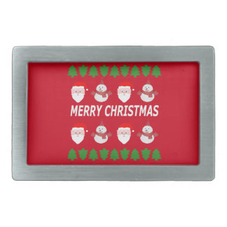 merry christmas rectangular belt buckles