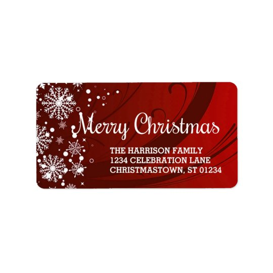 Merry Christmas (red) Address Labels